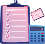 Clipboard and calculator